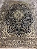 Hand Knotted Persian Silk&Wool Nain 6.7x9.8 ft .