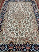 Hand Knotted Persian Silk&Wool Esfahan 10.3x6.8 ft