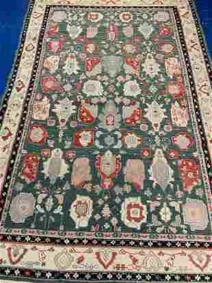 Hand Knotted Agra Flat Heriz 6x9 ft .Free Shipping