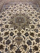 Very Fine Hand Knotted Persian Silk&Wool Esfahan