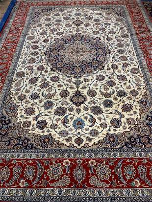 Hand Knotted Persian Silk&Wool Esfahan 12x8.3 ft .Free