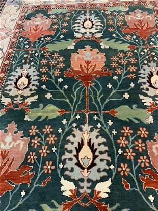 Hand Knotted Agra Heriz 12.5x9 ft .Free Shipping