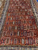 Antique Hand Knotted Shirvan 10.4x3.7 ft  .