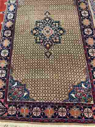 Hand Knotted Persian Sarouk Rug 8.5xx5 ft .Free