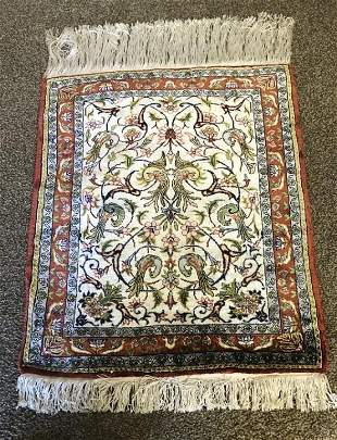 Hand Knotted Turkish Silkj 2x3 ft .Free Shipping
