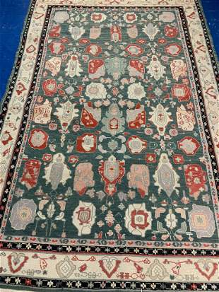 Hand Knotted Agra Flat woven Heriz 6x9 ft .Free