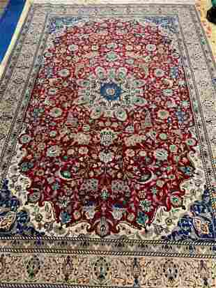 Hand Knotted Persian Nain 7x10 ft .Free Shipping