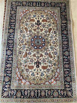 Hand Knotted Qum Silk 3.3x5 .Free Shipping Nationwide