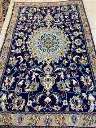 Hand Knotted Persian Nain 2.6x5.7 ft .Free Shipping