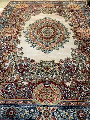 Machine Made Wool Tabriz Design Rug 5.3x7.11 .Free