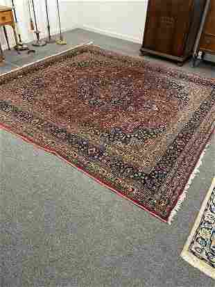 Hand Knotted Persian Kashan 8.10x11.10 ft .Free
