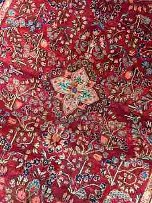 Hand Knotted Persian Sarouk 4x7 ft .Free Shipping