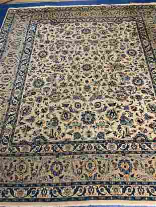 Hand Knotted Persian Kashan 9.8x9.4 ft .Free Shipping