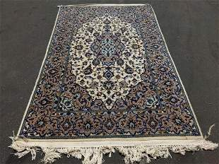 Hand Knotted Persian Kashan 7.9x4.7 ft Free Shipping