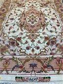 Fine Hand Knotted Pesian  Silk& Wool 50 Raj  Rug 5x7 ft