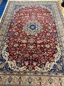 Hand Knotted Persian Nain Rug  7x10 ft .Free Shipping