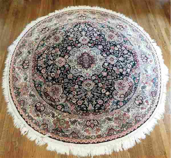 Hand Knotted Persian Tabriz Rug 6.x6.1 ft .Free