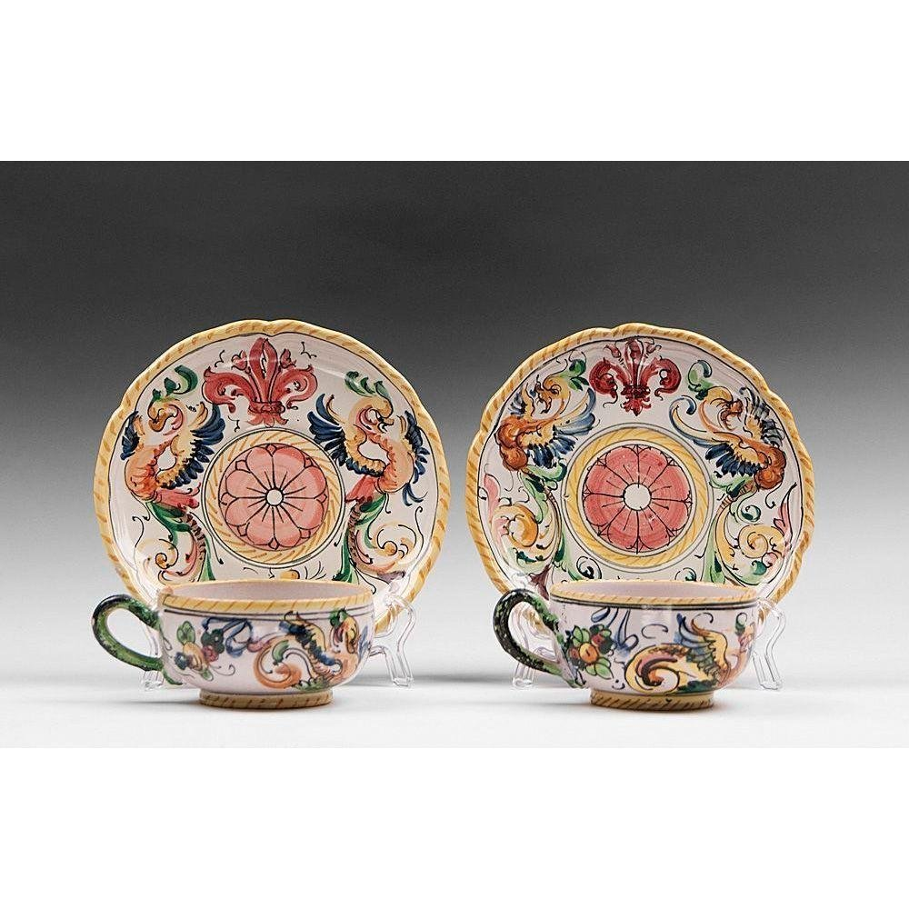 Pair of Fratelli Fanciullacci Cups & Saucers