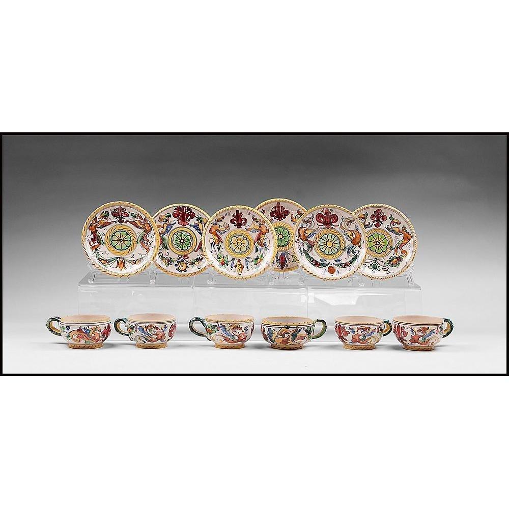 Set Of 6 Raffaellesco Fratelli Cups & Saucers