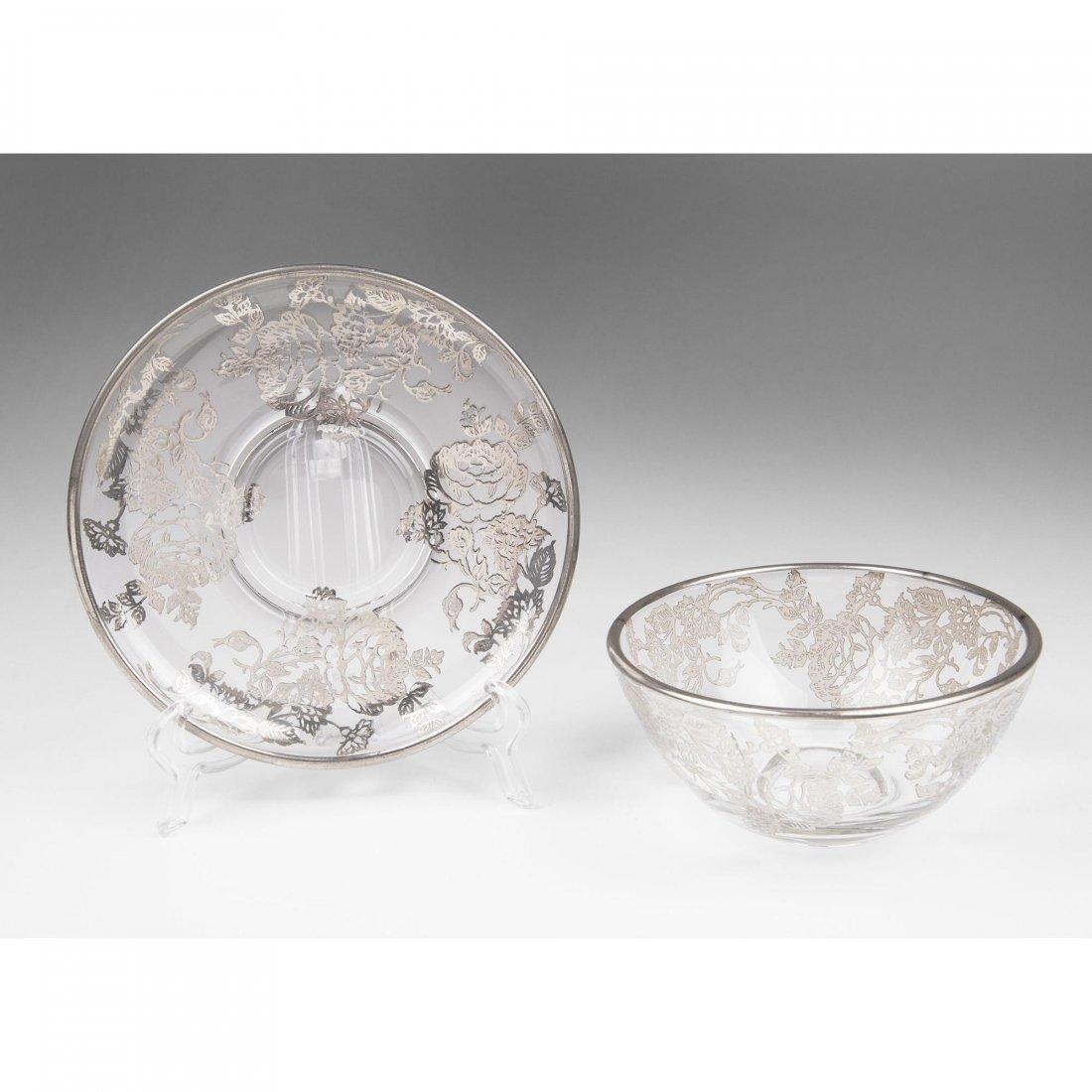 Cambridge Silver Deposit Bowl & Saucer