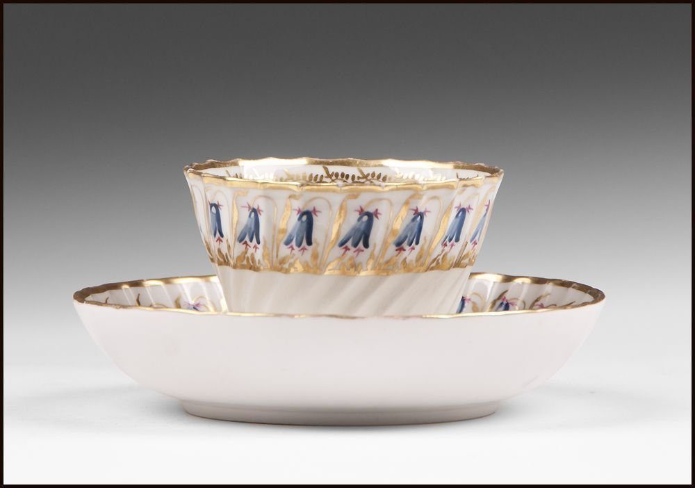 18th C. Derby, Duesbury Period, Soft Cup & Saucer - 2