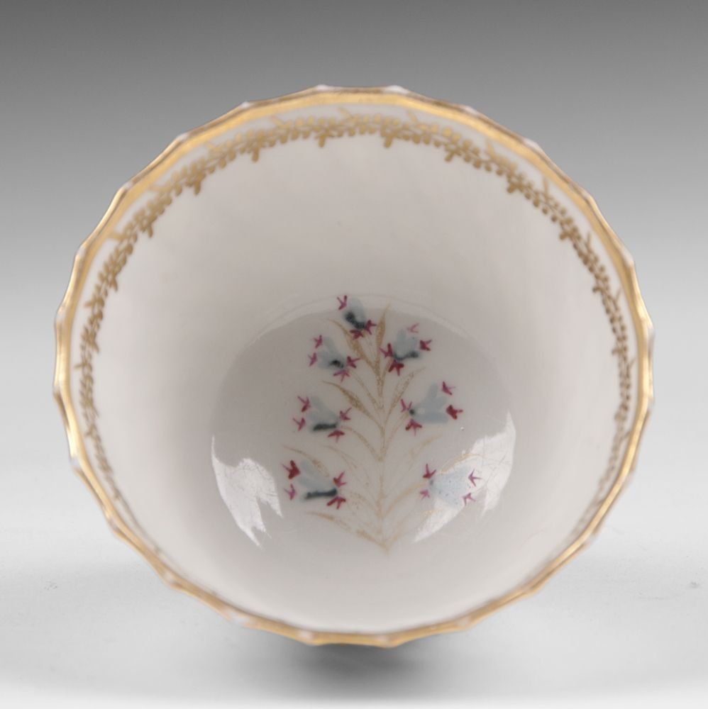 18th C. Derby, Duesbury Period, Soft Cup & Saucer - 4