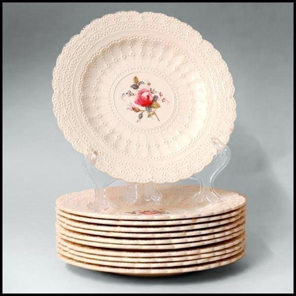 Set of 11 Luncheon Plates, Copeland Spode