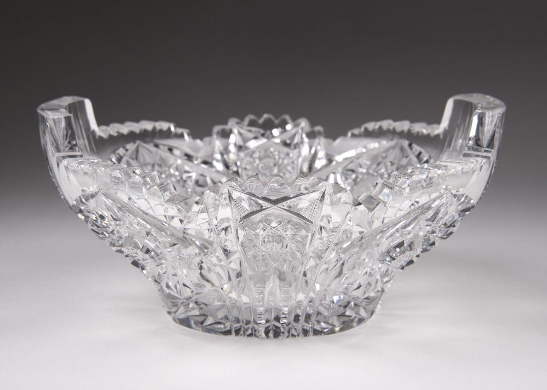 Brilliant Cut Glass Bowl - 3