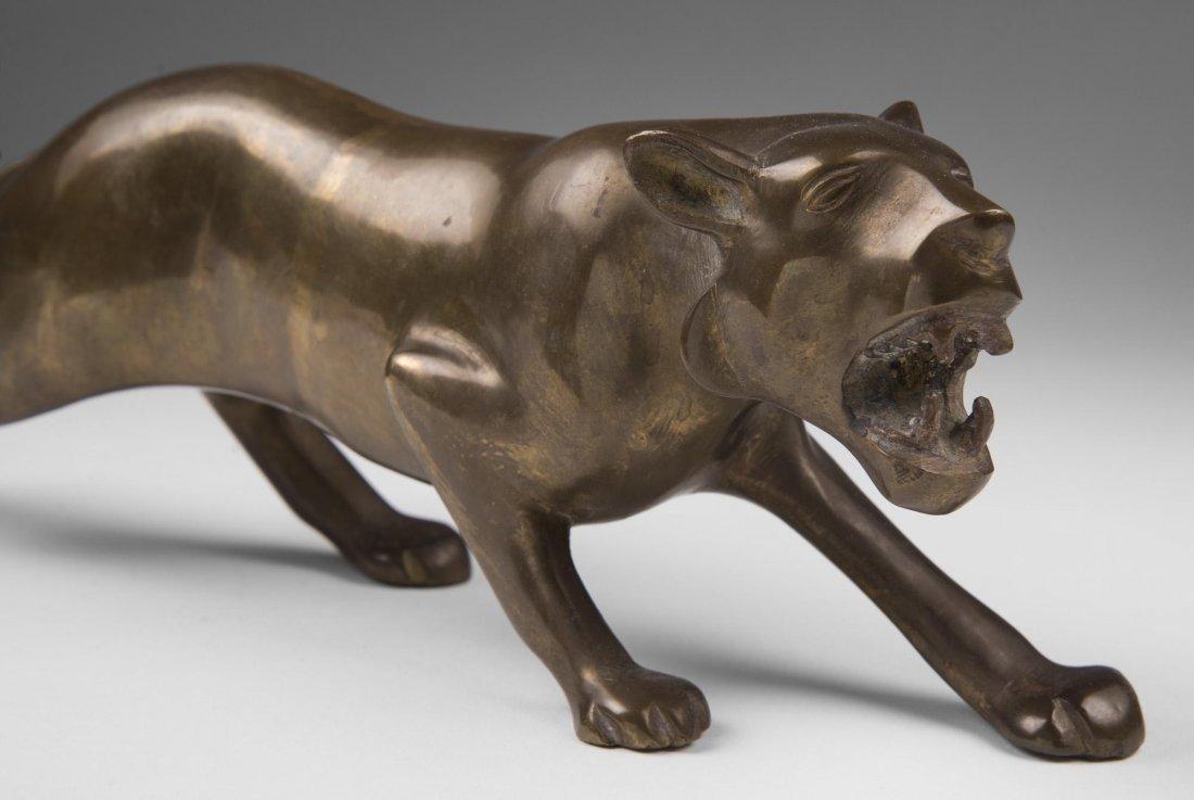 Japanese Bronze Stalking Lion - 2