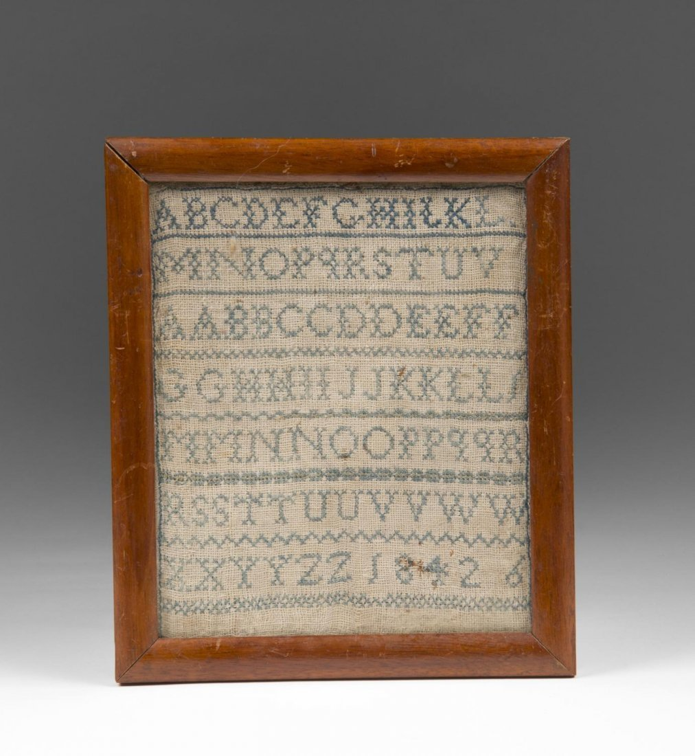 19th C. School Girl Sampler