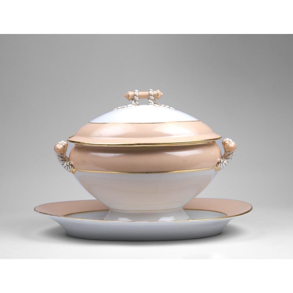 Paris Porcelain Soup Tureen & Platter