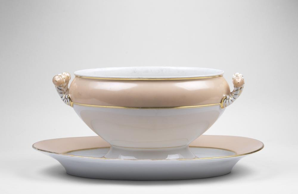 Paris Porcelain Soup Tureen & Platter - 2