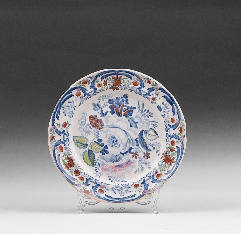 2 Ironstone Blue & White Dessert Plates, 19th C. - 2