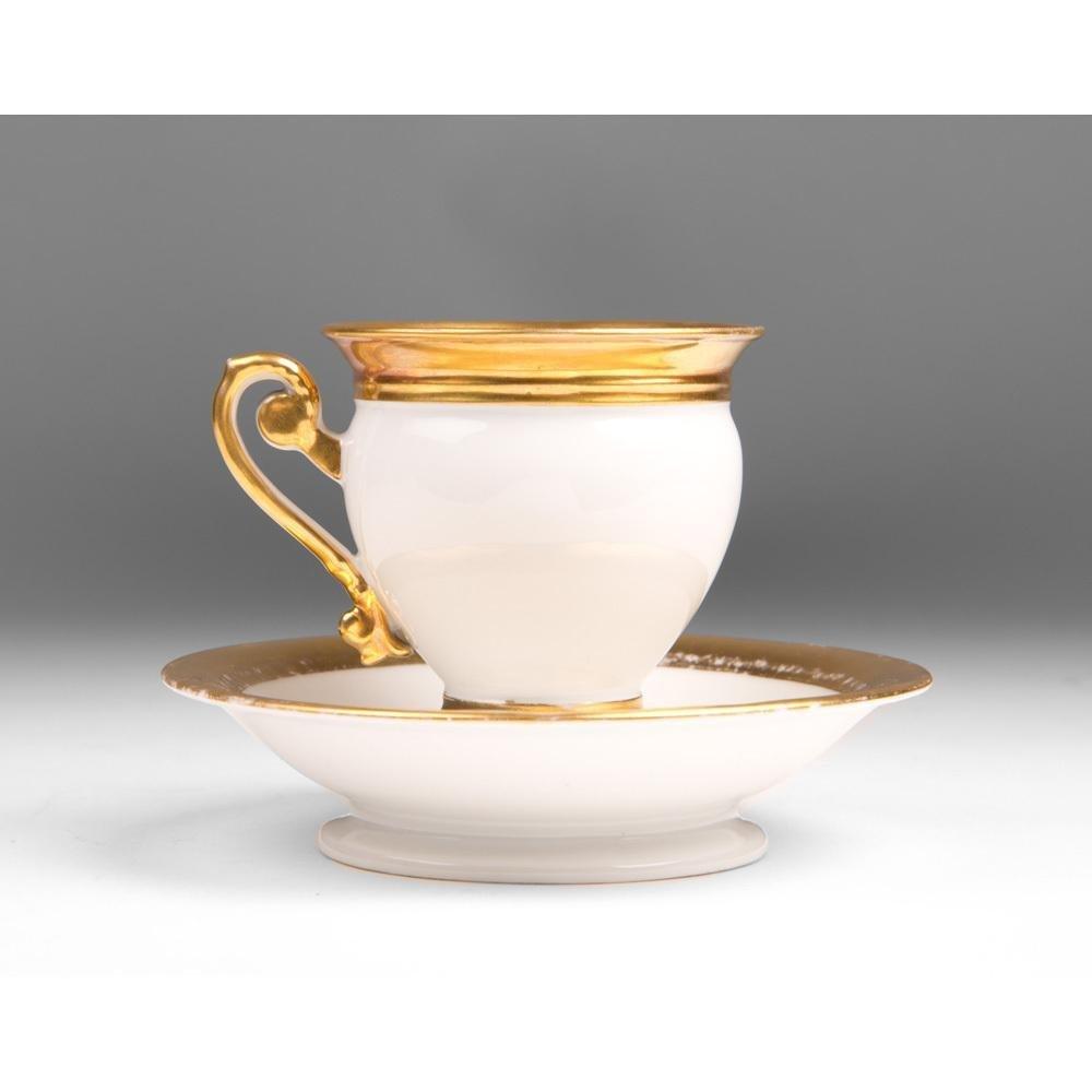Vieux Paris Porcelain Empire Cup & Saucer