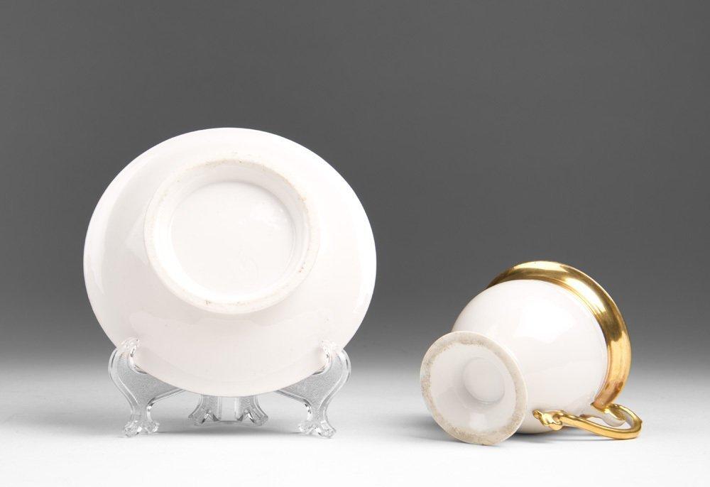 Vieux Paris Porcelain Empire Cup & Saucer - 2