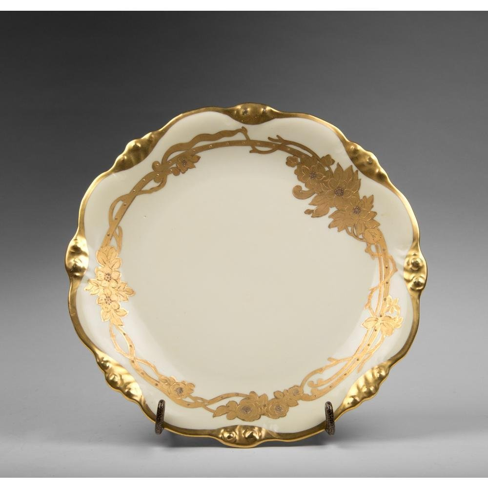 Elite Limoges Charger With Gilt Border