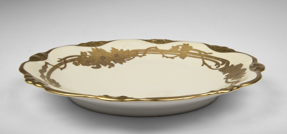 Elite Limoges Charger With Gilt Border - 3