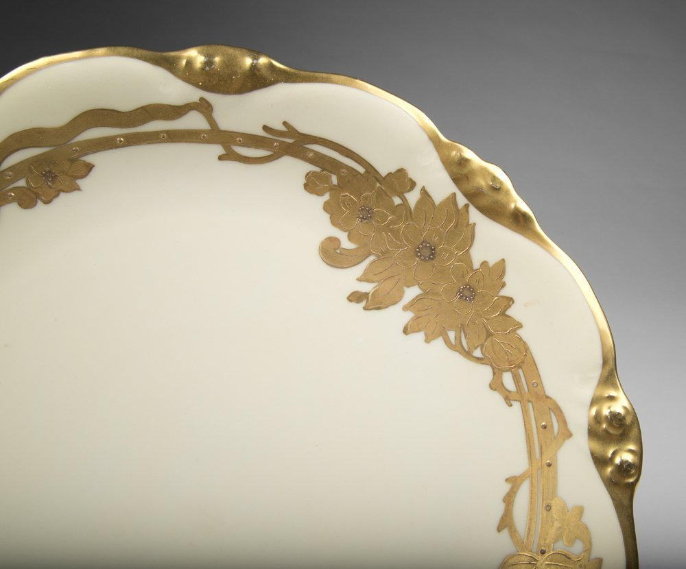 Elite Limoges Charger With Gilt Border - 4