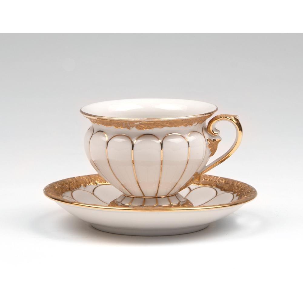 Meissen Cup & Saucer, Golden Baroque