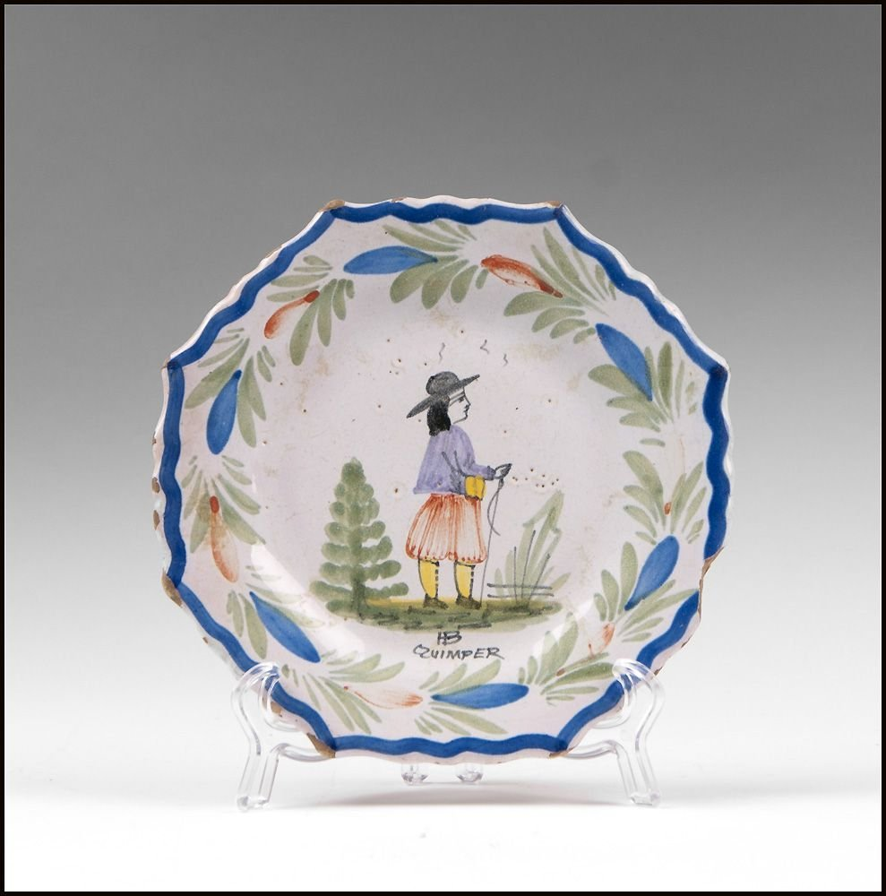 HB Quimper French Faience Plate
