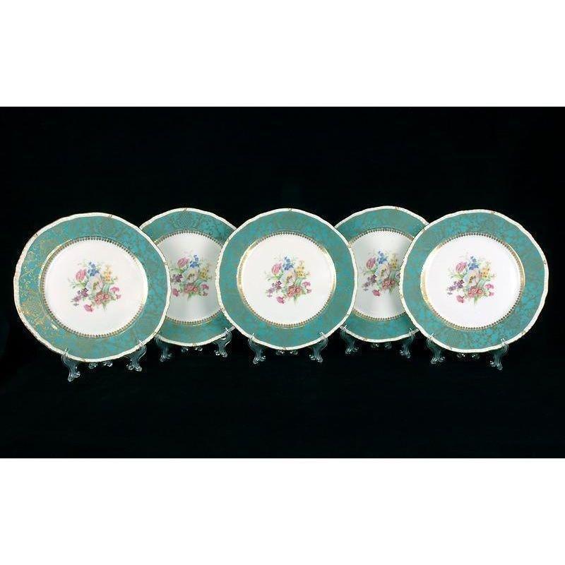 5 Royal Bayreuth Dinner Plates