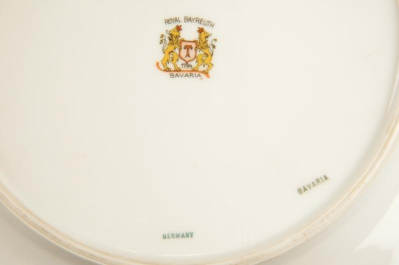 5 Royal Bayreuth Dinner Plates - 2