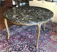 Giltwood Carved Breakfast Table Marble Top