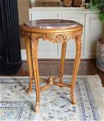 Hand Carved Giltwood Louis XV Side Table