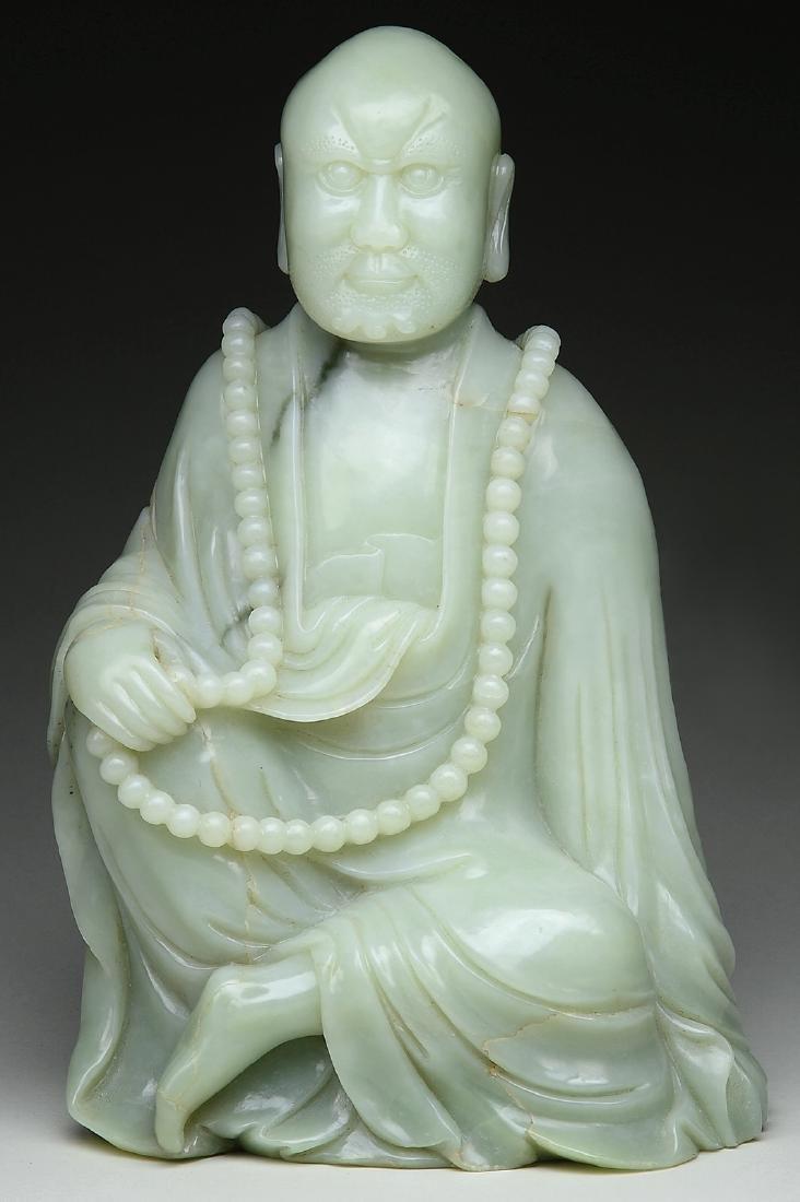 Large Chinese Hetian Jade Luo Han.