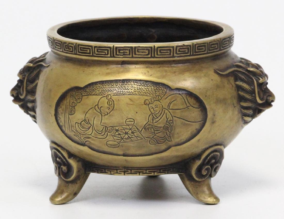Chinese Bronze Incense Burner,  Qing