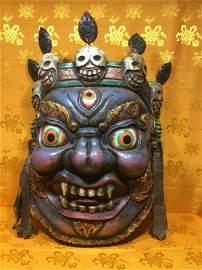 Giant Tibetan Mahakala Mask.
