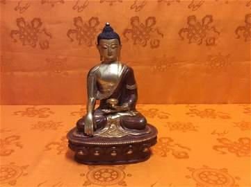 Tibetan Copper Buddha Statue.