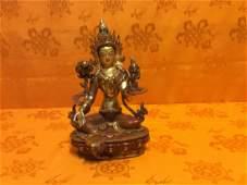 Tibetan Green Tara Statue.