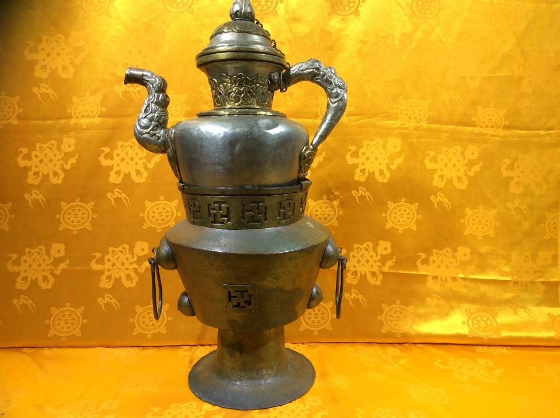Vintage Tibetan Tea  Pot and warming set.